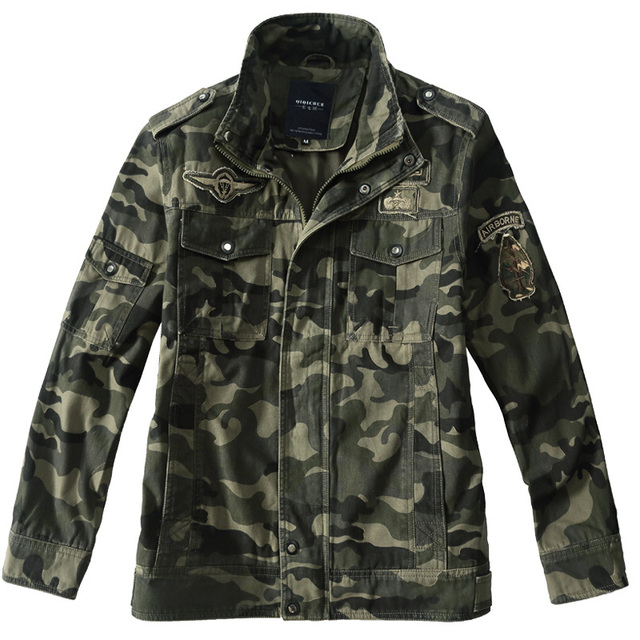 4c5f44fa49be2 Men Army Military Airborne Pilot Jacket Camouflage military uniform us army  cargo multicam militar tactical clothing