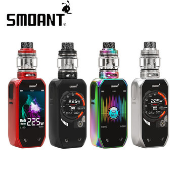 Hot Original 225W Smoant Naboo TC Kit with Naboo Tank 4ml/2ml 225W Max Output No 18650 Battery Vape Box Mod VS Drag 2 / Luxe Kit