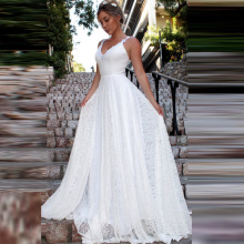 Vintage Lace Beach Wedding Dresses 2019 LORIE Vestidos De Casamento Sexy Bridal Dress Backless Plus Size Wedding Dress vintage style bride wedding dress red wedding complex costume for overseas chinese suzhou embroidery vestidos de casamento