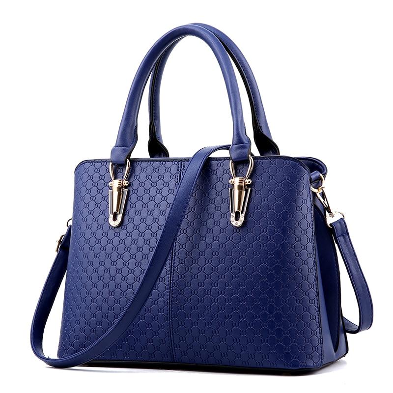 ФОТО Women PU Leather Handbag Lolita Style Shoulder Bag Lady Fashion Portable Diagonal Bags Handbags Women Famous Brands BLUE SY1107