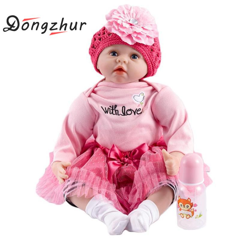 Dongzhur Baby Sleeping Dolls Silicone Reborn Doll Girl Boy Shower Npkdoll Early Education Doll Princess Birthday Gift Baby Toy