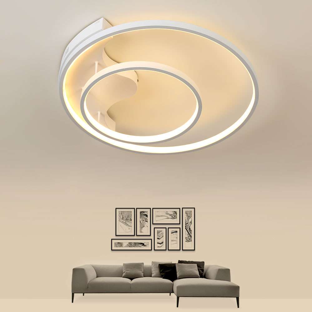 Modern Led Ceiling Light with Remote Control Dimmable LED Ceiling Lamps Room Lamps Restaurant Bedroom Ceiling Light AC 110V-220V