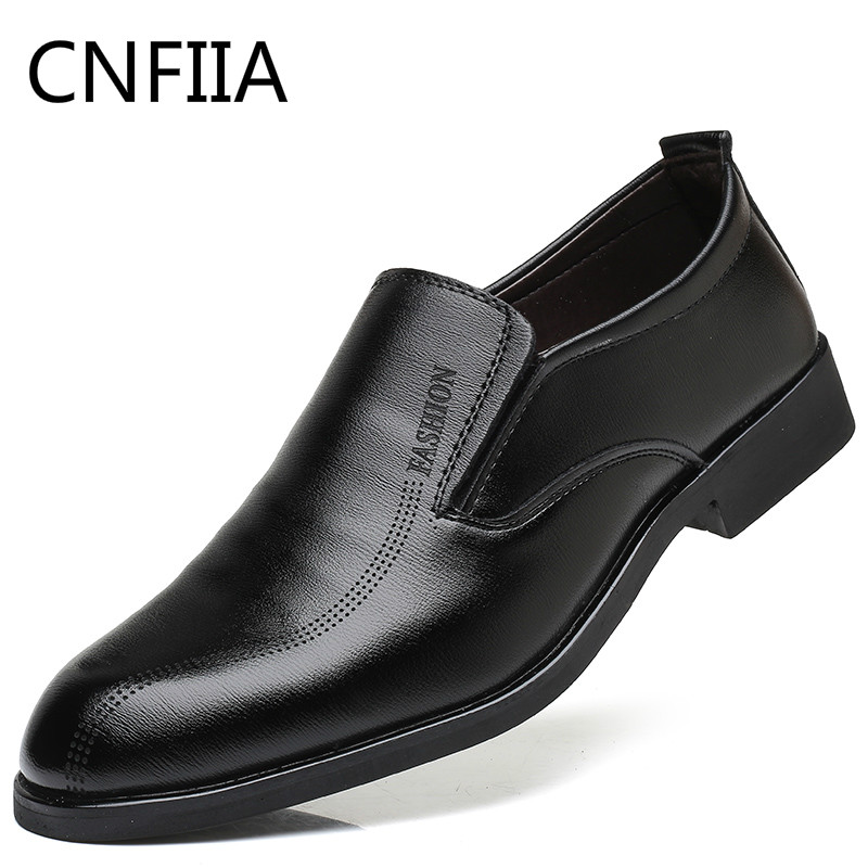 CNFIIA Men Formal Shoes Dress Quality Oxford Shoes for Men 2018 New Black Male Luxury Brand Classic Classic Shoes Office Slip-On