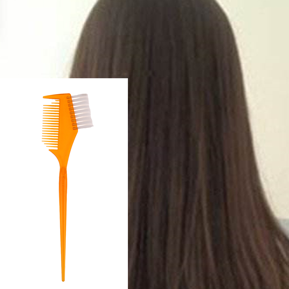 Plastic Hair Dyeing Comb Brush Double Side Hair Salon Hairdressing