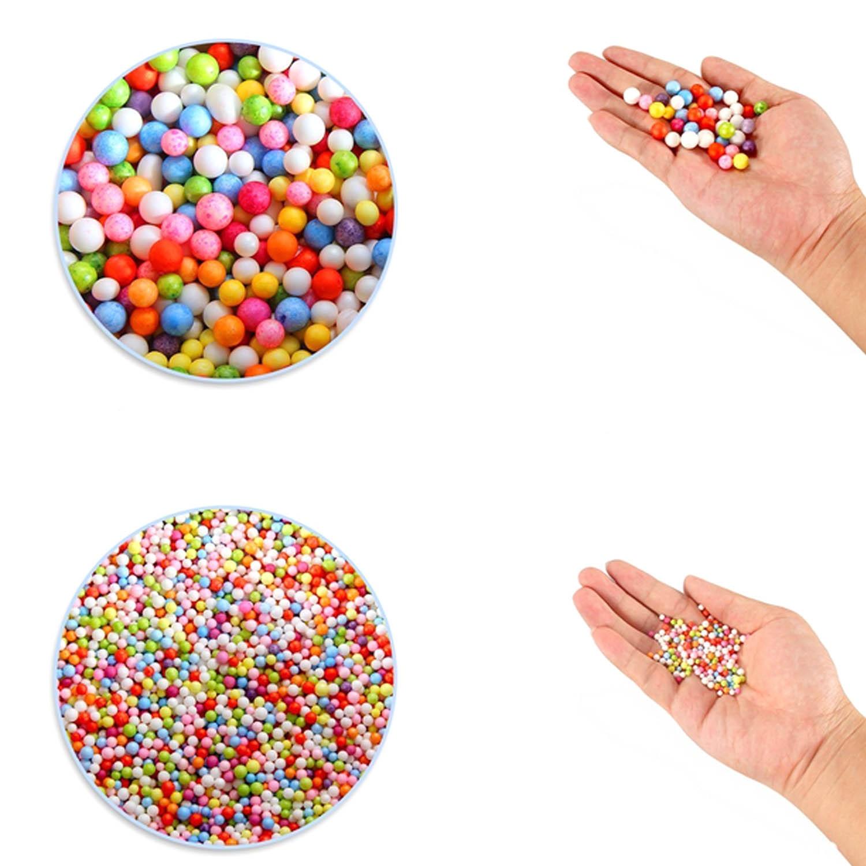Colorful Styrofoam Beads Foam Balls Glitter Various Shaped Slice Kit for Slime DIY Craft Gift Box Filler Wedding Party Decor