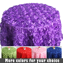 3D Rose round table cloth wedding around 1.2 meter diameter cake tablecloths for wedding 3d rose table cover for banquet
