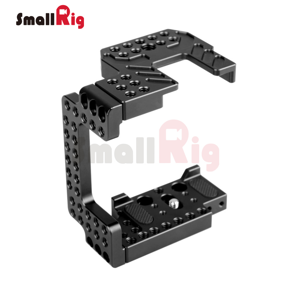SmallRig Aluminum Alloy Camera Cage for A7II/A7RII/A7SII/ILCE-7M2/ILCE-7RM2/ILCE-7SM2 Cage 1673 new version smallrig cage for sony a6300 a6000 a6500 ilce 6000 ilce 6300 ilce a6500 sony nex 7 cage 1661