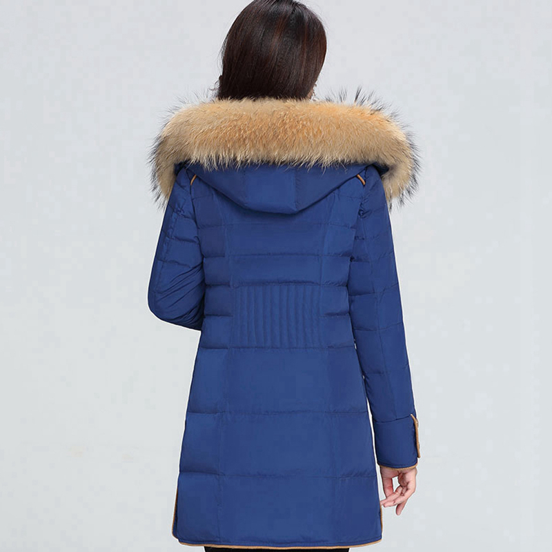 Longues Mode blue Col Veste Longue Plus De Beige Hiver black Lj072 Nouveau Vers Capuchon Chaud La Le À Bas Taille Femmes Manches Fourrure red Femme C6pgqwxZq