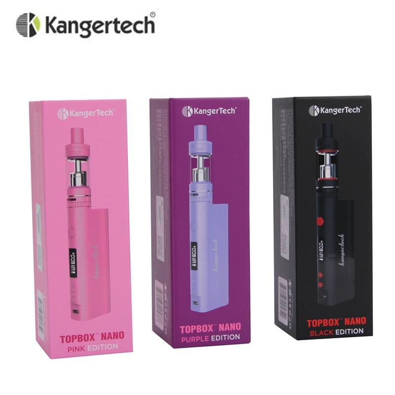 Original Kanger Topbox Nano Starter Kit 60W TC Mod With Toptank Nano Atomizer 18650 Box Mod