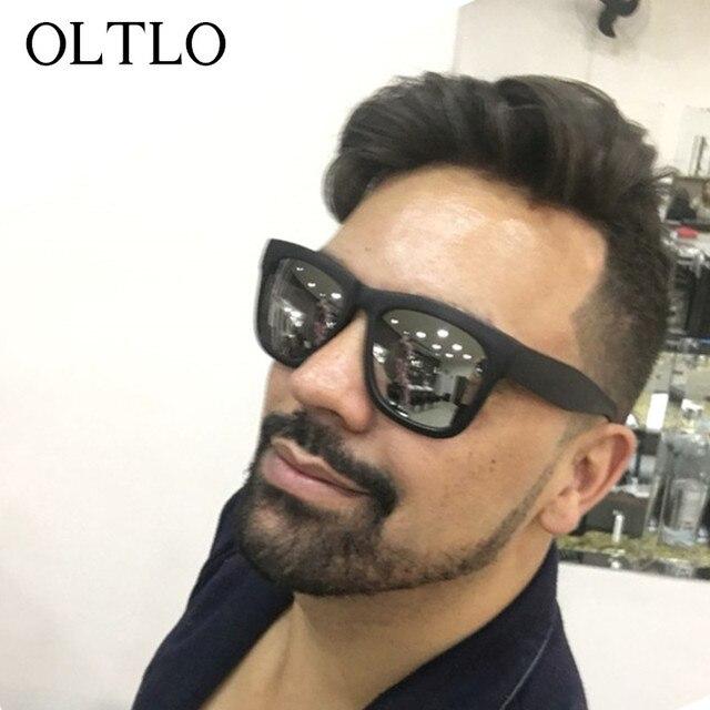 OLTLO NEW 2017 Classic Matte Sunglasses Men Fashion Black Frame Oculos homens Trending Acetate Plastic Sun Glasses For Women