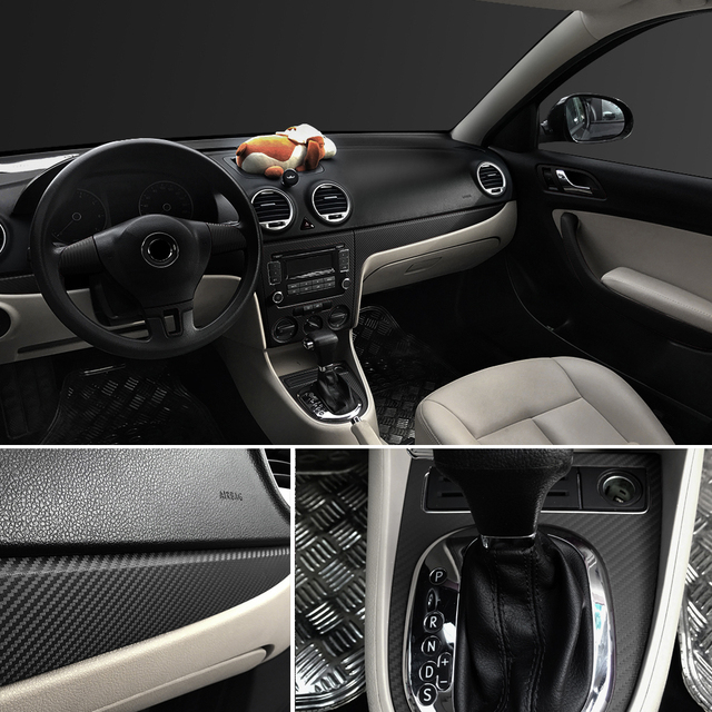 30cmx127cm 3D Carbon Fiber Vinyl Car Wrap Sheet Roll Film Car Stickers and Decal Motorcycle Auto