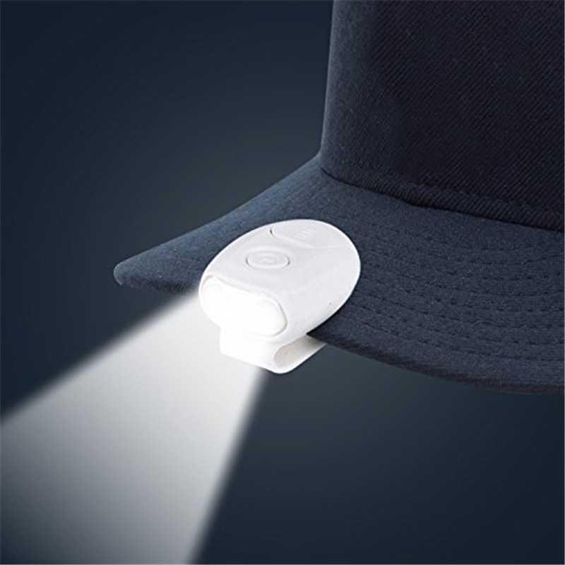 Светодиодный налобный фонарь крышка света ручной свободный колпачок свет 90 градусов поворотный зажим-на шляпе свет яркая Фара Фонарь Кемпинг Велоспорт