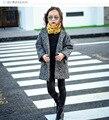 Девушки шерстяное пальто девушки пальто и куртки Осень и зима новый Корейский дети толстые шерстяные пальто бесплатная доставка
