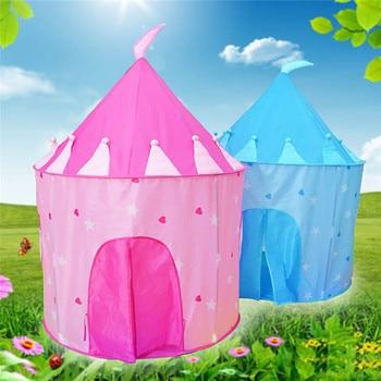 かわいいポータブルガールズ & ボーイズ子供城収納屋内劇場新しい -