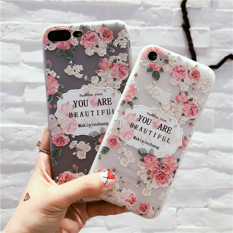 patterned Phone Case 3d embossed Soft TPU back Cover for iphone xr max xs 5 6 7 8 Plus Shock Proof casefor OPPO R9 R11 R15 coque in Half wrapped Cases from Cellphones Telecommunications