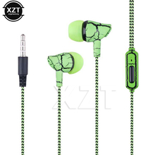 Venta caliente 3.5mm Jack Crack Auricular Auricular Auricular Auricular con Micrófono Manos Libres Auriculares para Android MP3 MP4