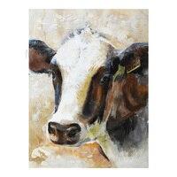 100% هاندبينتيد الحديثة زيت على قماش مجردة جدار الفن الحيوانات البقر صور الفن للمنزل الديكور الطلاء