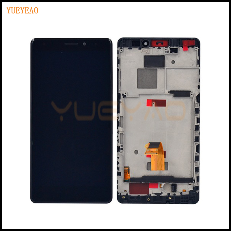 YUEYAO LCD Screen LCD Display + Digitizer Touch Screen Glass Assembly For Huawei MateS Mate S Cell Phone LCD With Frame white lcd display touch screen digitizer glass assembly frame for huawei ascend p7 p7 l10
