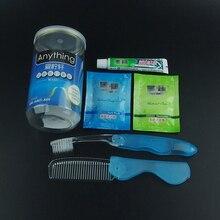 Подходит нормальной кислоты ремонт шампунь гребень путешествия зубная щетка путешествие комплект recycle пакет хорошее toothpste