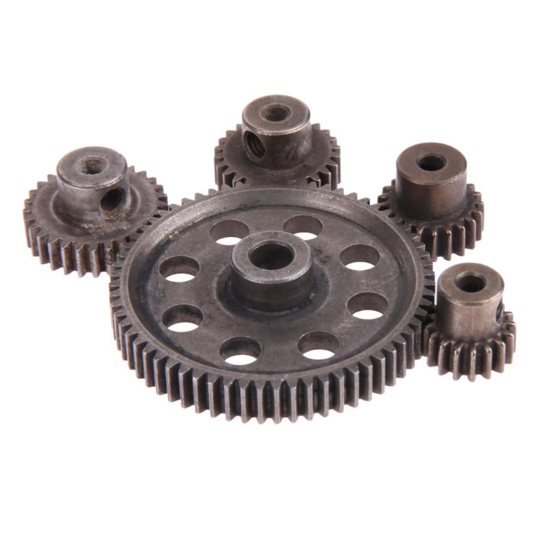 Hot 5pcs/Set Differential Main Metal Spur Motor Gear RC Toys Part for HSP Truck hot sale rc 1 10th 11184 hsp 1 10 gear differential main gear 64t 11181 motor gear 21t teeth car truck