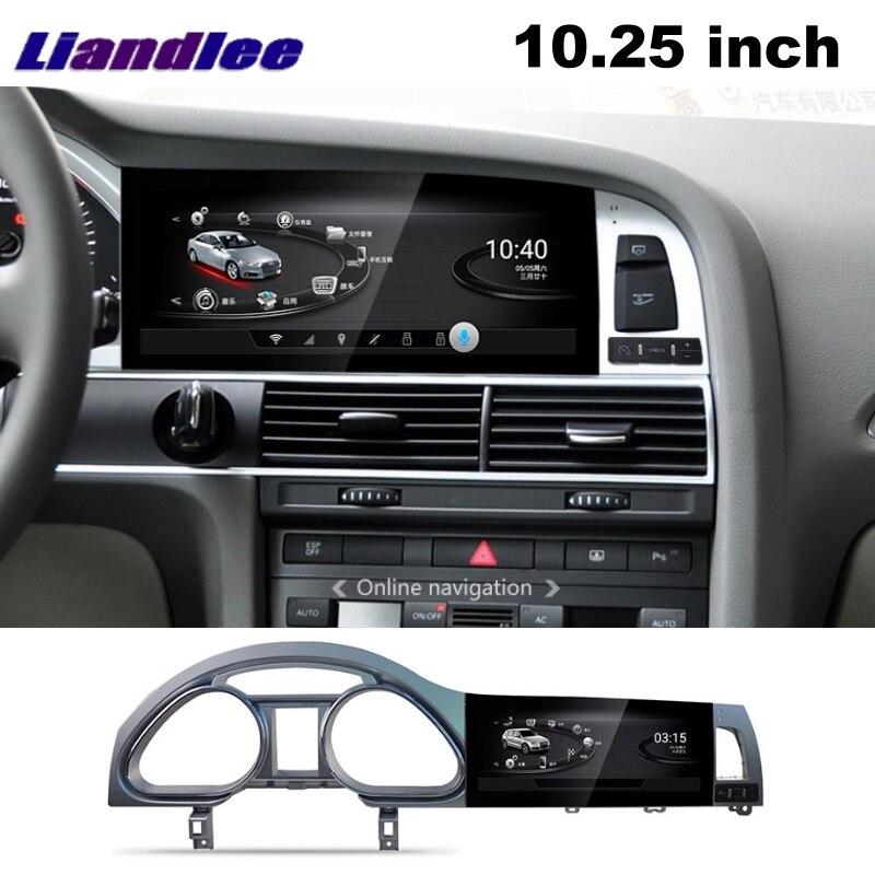 Lecteur multimédia de voiture Liandlee NAVI pour Audi Q7 4L V12 2005 ~ 2015 système de voiture Radio stéréo CarPlay adaptateur GPS écran de Navigation