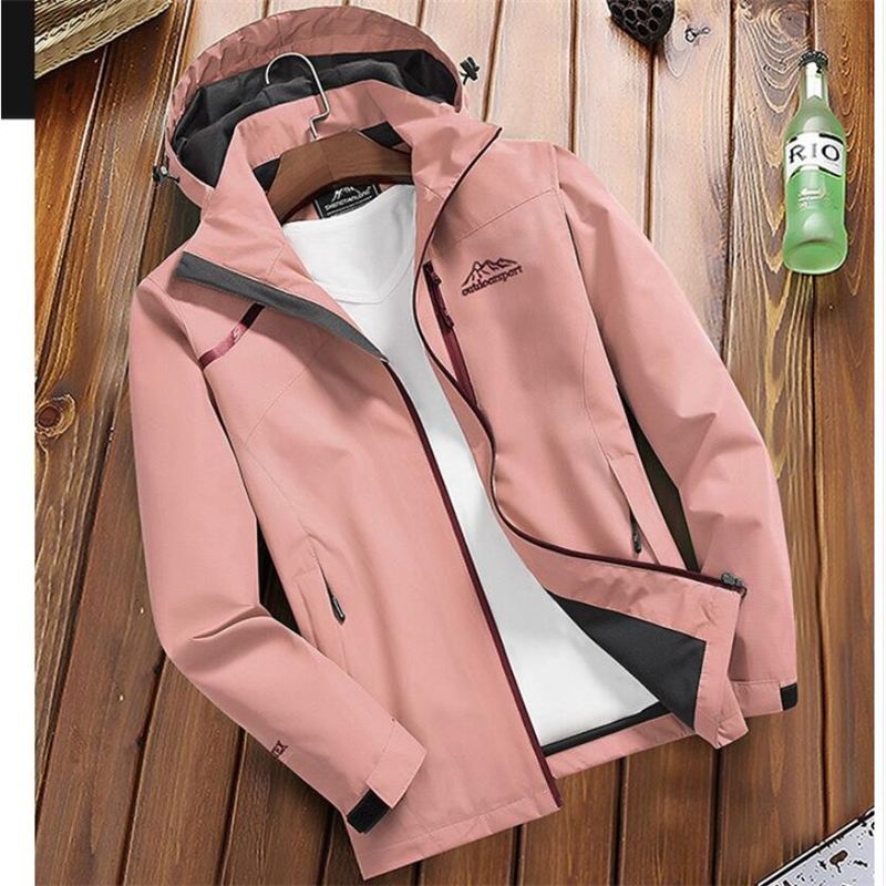 Spring Autumn Women's Casual Waterproof   Jacket   Breathable Hooded Coat Female Tourism Mountain Windbreaker   Basic     Jackets   Raincoat