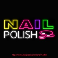 Nail Polish Neon Signs Board Neon Bulbs Light Real GlassTube Handcrafted Beer Bar Pub Led Signs