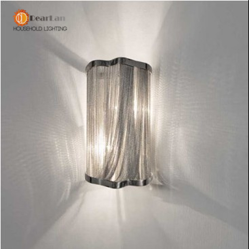 Здесь можно купить   Modern Aluminum Chain Wall Lamps Engineering Design Luxury Chain Tassel Aluminum Chain Wall Lamps(BK-54) Строительство и Недвижимость