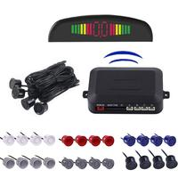 DC12V Universal Wireless Car Parking Rear Reverse 4 Sensors Buzzer Radar LED Display Audio Alarm Dropship 8.24