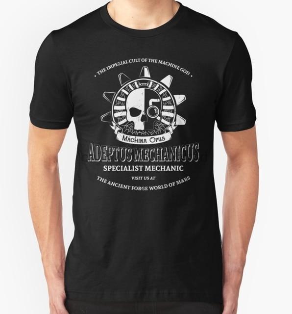 1ce6ccb18410 Printed Men T Shirt Cotton tshirts O-Neck Short-Sleeve Adeptus Mechanicus Women  T
