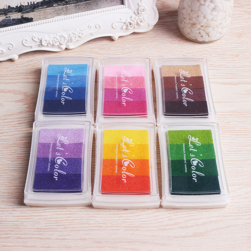 Beautiful Color Ink Seal DIY Scrapbooking Gradient 4
