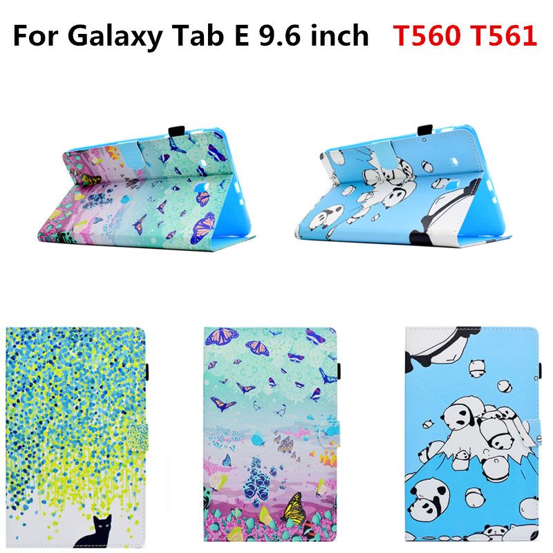 Fashion Flip PU Leather With Soft Silicon TPU Case For Samsung Galaxy Tab E 9.6 inch T560 SM-T560 T561 Tablet Cute Cover Funda bf luxury tablet case for samsung galaxy tab e 9 6 sm t560 sm t561 t560 t561 pu leather flip cute book stand cover protector