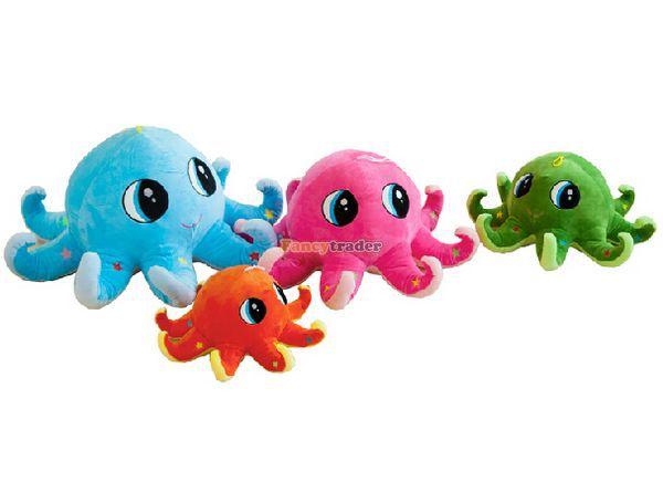Fancytrader 2015 nouveau Style pieuvre jouet 1 pc 28 ''x 12'' grand 70 cm x 30 cm peluche peluche pieuvre 4 couleurs, livraison gratuite FT90526