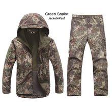 Kryptek camuflaje Uniforme Táctico TAD Soft Shell Chaqueta Impermeable Que Acampa Yendo de Pesca Caza Ropa Chaqueta Pantalones Set