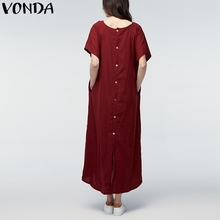 Vintage Casual V-Neck Plus Size Maternity Long Dress