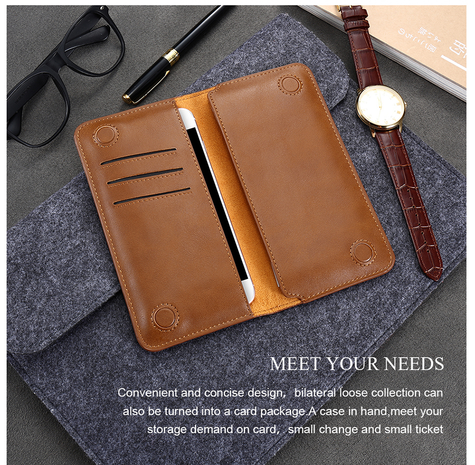 FLOVEME Genuine Leather Wallet Case For iPhone 6 6S 7 Plus Cover Multi-function Vintage Luxury Phone Pouch For Samsung S6 S7 (17)
