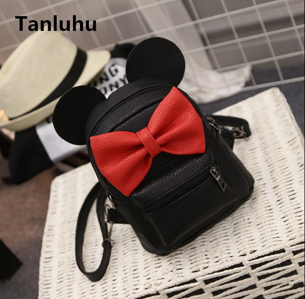 Tanluhu women cute small black backpack lady pu leather travel daypack mochila teenager girl cool backpack student school bag ljt 2017 winter creative personality women shoulder bag 3d stereo cool dog pu leather cute cartoon backpack travel