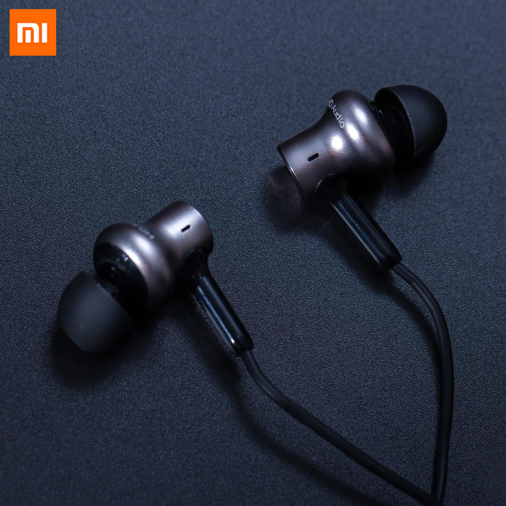 Original Xiaomi Hybrid Pro HD Dual Driver Dynamic + Balanced Armature Mi In-Ear Earphone with Microphone For Mobile Phone original xiaomi xiomi mi hybrid earphone 1more design in ear multi unit piston headset hifi for smart mobile phone fon de ouvido
