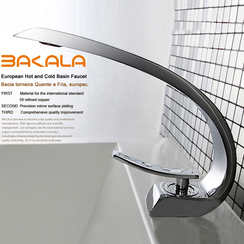 BAKALA modern washbasin design Bathroom faucet mixer waterfall Hot and Cold Water taps for basin of bathroom F6101-1 цена