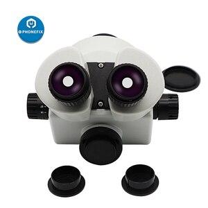 Image 2 - 3.5X 90X simul fokal trinoküler mikroskop Zoom Stereo mikroskop kafa + 0.5X 2.0X yardımcı Lens için telefon PCB lehimleme onarım