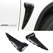 2Pcs Car Styling Side Wing Air Flow Fender Grill Outlet Intake Vent Trim For BMW X5 F15 2014 2015 2016 2017 стоимость