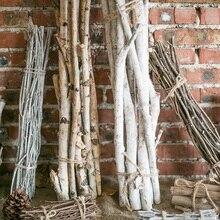 Американская деревня Натуральные Сушеные ветки дерева палочки букет ДОМА балкон Рождество праздник цветочные расположение декора дров
