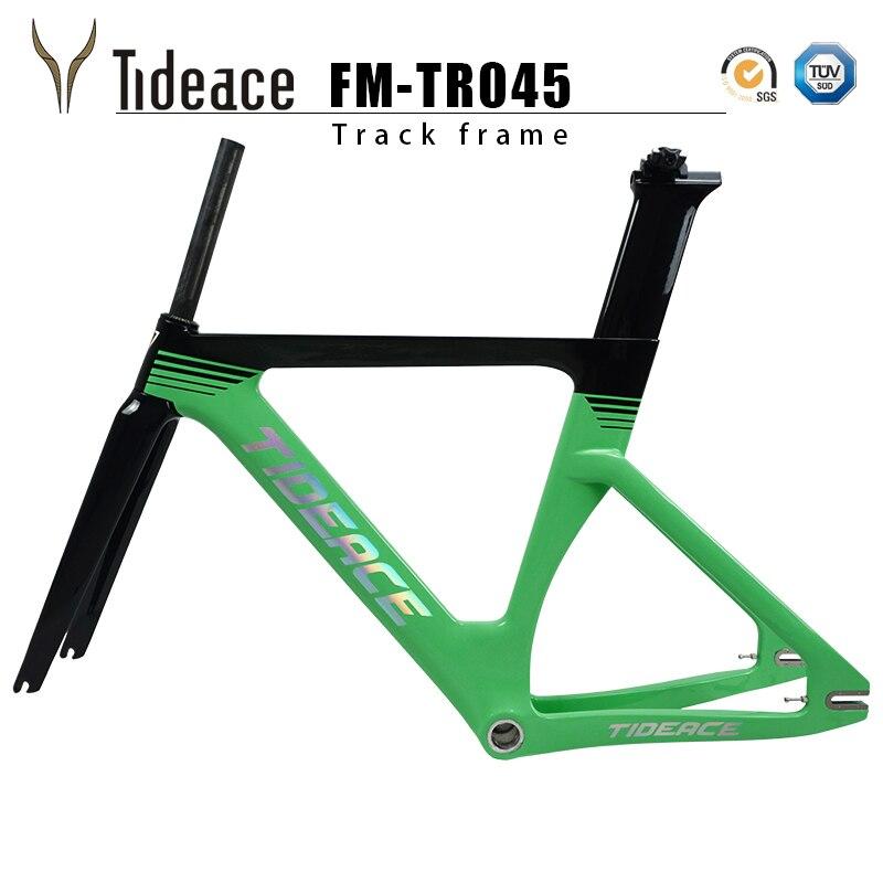 2018 Carbon Track Frame Carbon Fiber Fixed Gear bike frame Carbon Racing Tracking bike Frameset 49/51/54cm with fork seatpost carbon matt road bike frameset for bsa 54cm frame fork seatpost clamp