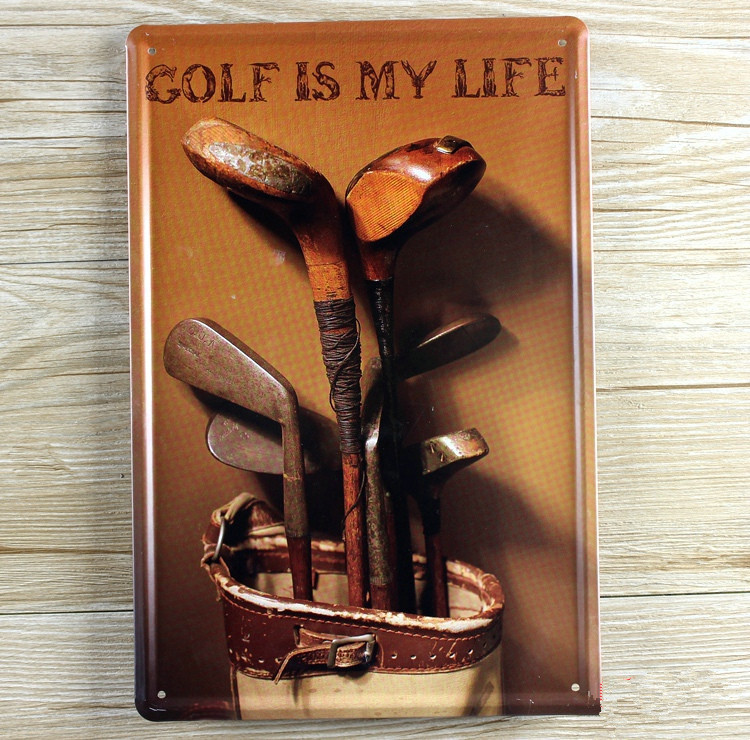 Metal Signs Home Decor hand made fly fishing bait metal wall sign home decor say it minimalist metal signs home decor New 2015 Ua 0480 Golf Is My Lift Sport Metal Vintage Tin Signs