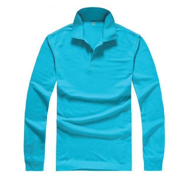 Мода Стиль Мужская Одежда Футболка С Длинным Рукавом Повседневная Мужчины Футболка Сплошной Цвет Рубашки Поло Пользовательские Одежда camiseta masculina