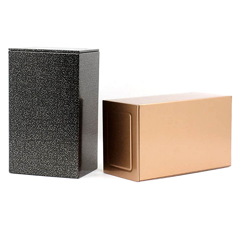 Xin Jia Yi Packaging Tinplate Box Rectangle Shape New Style With Printing Black Golden Color Metal Cans For Coffee Supplier