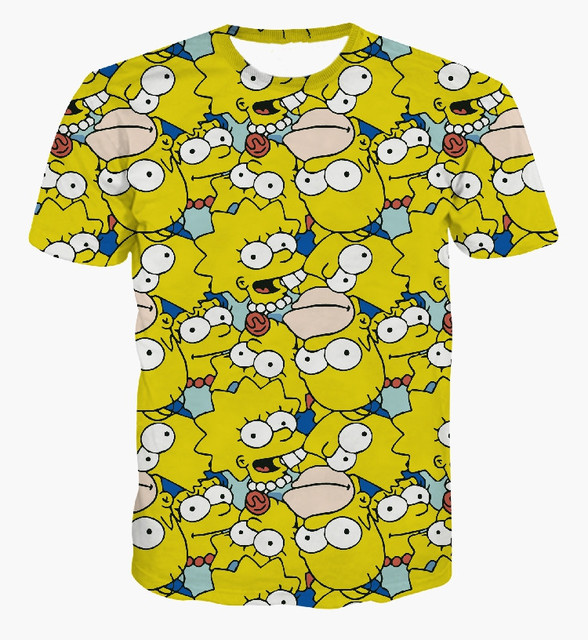 0ea7cb9b3 3d t shirt cartoon the simpsons family graphic tees homer /Marge /Bart  /Lisa Simpson / tees for women/men