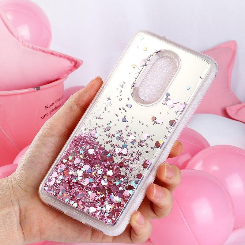 Glitter Liquid Quicksand Case For Alcatel 1X 3 3V 3X 5 Case Silicone 5052Y 5052D 5058Y 5099D 5099A 5086 Mirror Cover