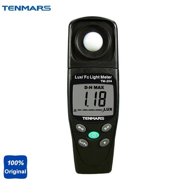 TM-204 Digital Light Meter LUX and FC Ligth Meter Measuring Lights Source Include All Visible Range массажер fitstudio 204 fc