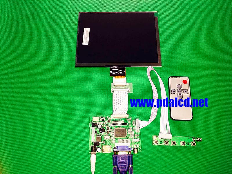 """Prix pour HDMI/VGA/AV Conseil de Contrôle Pilote + 8 """"pouces HJ080IA-01E 1024*768 IPS haute-définition Écran lcd Pour Raspberry Pi"""